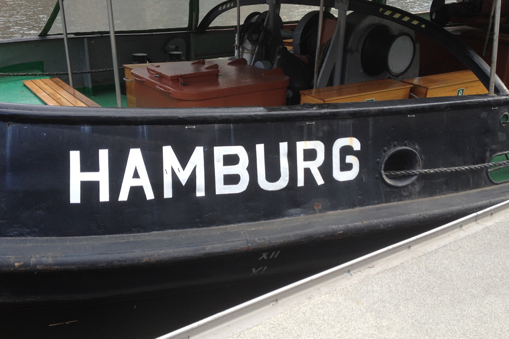 Boot in Hamburg